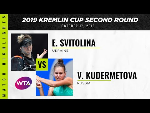 WTA Moscow round 2 | Elina Svitolina vs. Veronika Kudermetova | Highlights