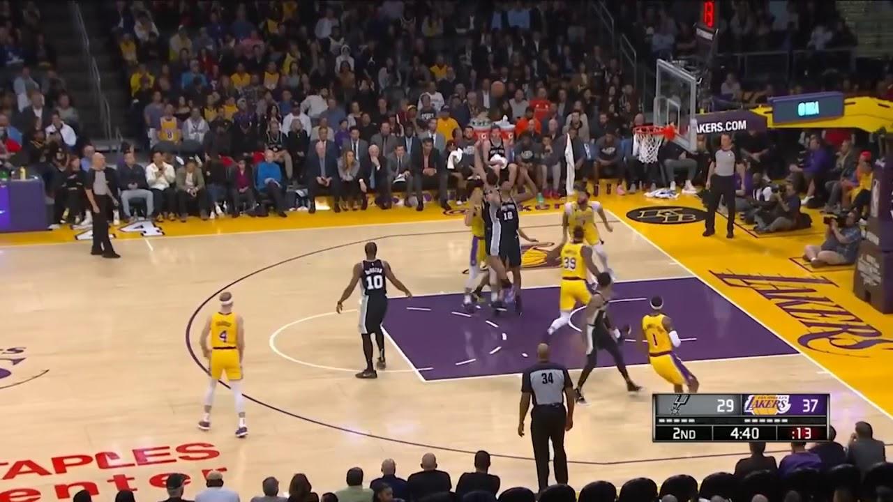 Los Angeles Lakers vs San Antonio Spurs - Full Game ...