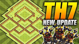 Clash of Clans – BEST TH7 Farming Base – NEW Three Air Defense Update – (CoC Townhall 7 Hybrid Base)