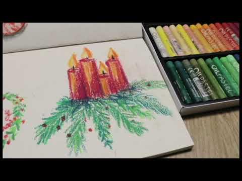 Vẽ tranh bằng màu sáp dầu Mungyo/Vẽ thư giãn/Painting with mungyo oil pastel