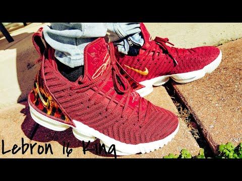46db3174aaf4 Nike Lebron 16 King On Feet Review!!! - YouTube