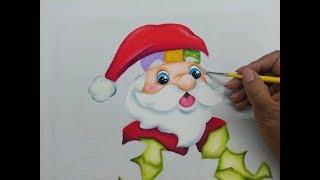 Pintura En Tela Navidad Como Pintar Un Santa Claus Con Pintura Textil