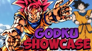 New SSG Goku 598% Showcase (Super Saiyan God Goku)    Dragon Ball Legends