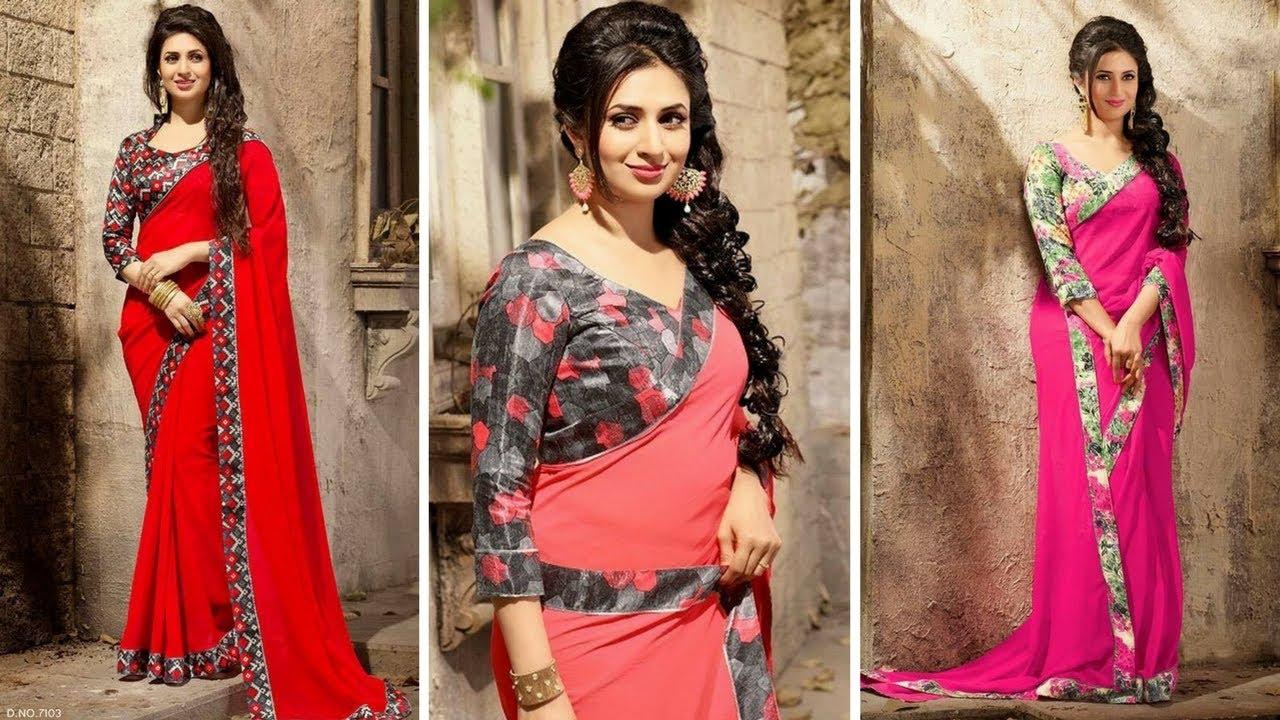 305f7ed64fa4d7 Yeh Hai Mohabbatein ; Divyanka Tripathi Saree Collection 2017. Trendy  Designs