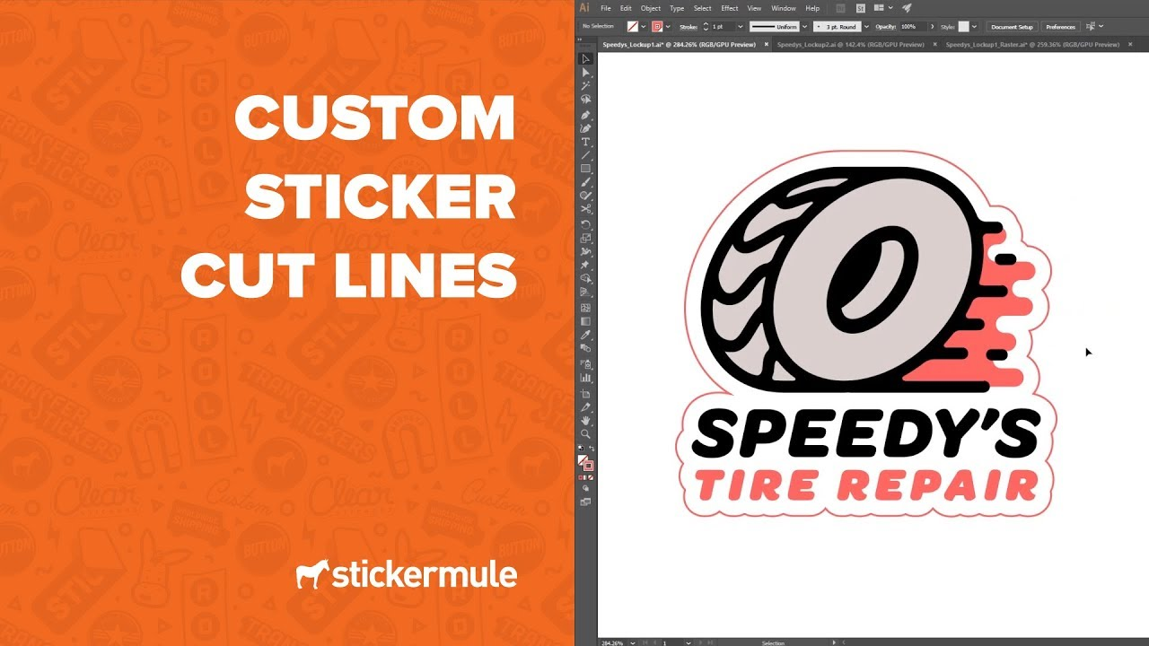 How to create a sticker cut line in illustrator