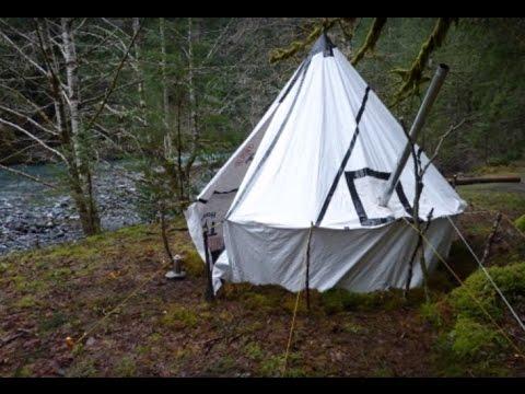 Tyvek Tent Tyvek Teepee Hot Tent Tent Stove Youtube