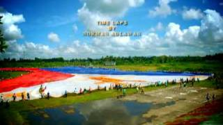 Largest Philippine flag unfurled in Tagum City davao del nor