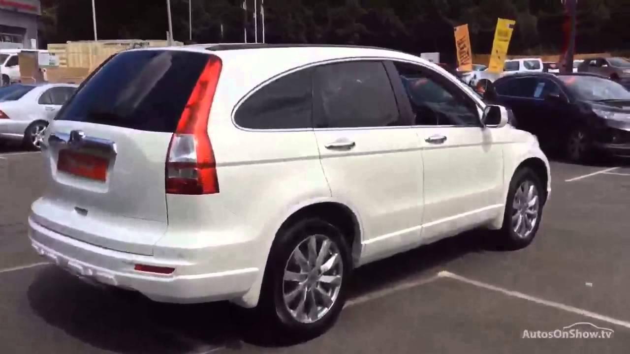 Honda cr v i dtec ex white 2011 youtube for White honda crv