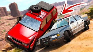AWESOME POLICE CHASE SCENARIO PACK! CRAZY TAKEDOWNS &CRASHES! - BeamNG Drive Police Pursuit Pack