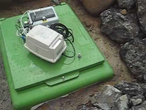 Fonctionnement micro station puration tricel avec pompe for Assainissement micro station prix