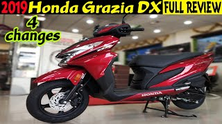 2019 Honda Grazia DX|What's New|Full Review|Braking Test|Specs|Price|Mileage|MotoMad