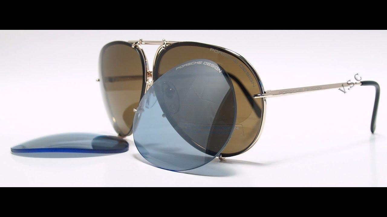 4bf93bd3966 Porsche Design P8478 Sunglasses Color A Light Gold - YouTube