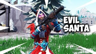 "New ""EVIL SANTA"" Krampus Skin Gameplay In Fortnite Battle Royale..."