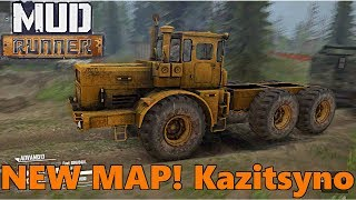 SpinTires Mud Runner: NEW MAP! Kazitsyno + NEW K701 Logging Rig