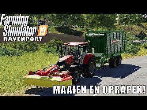 'MAAIEN EN OPRAPEN!' Farming Simulator 19 Ravenport #9