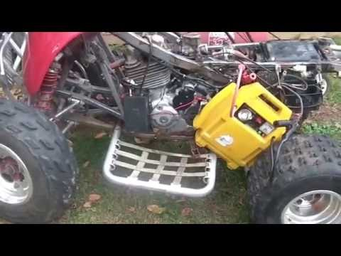 Hacked Wire harness Honda 300EX, Starts with portable CDI set, - YouTube