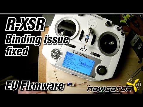 FrSky R-XSR Binding Issue Fix EU LBT Firmware (English)