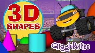 Monster Trucks Learn 3D Shapes   Episode 10