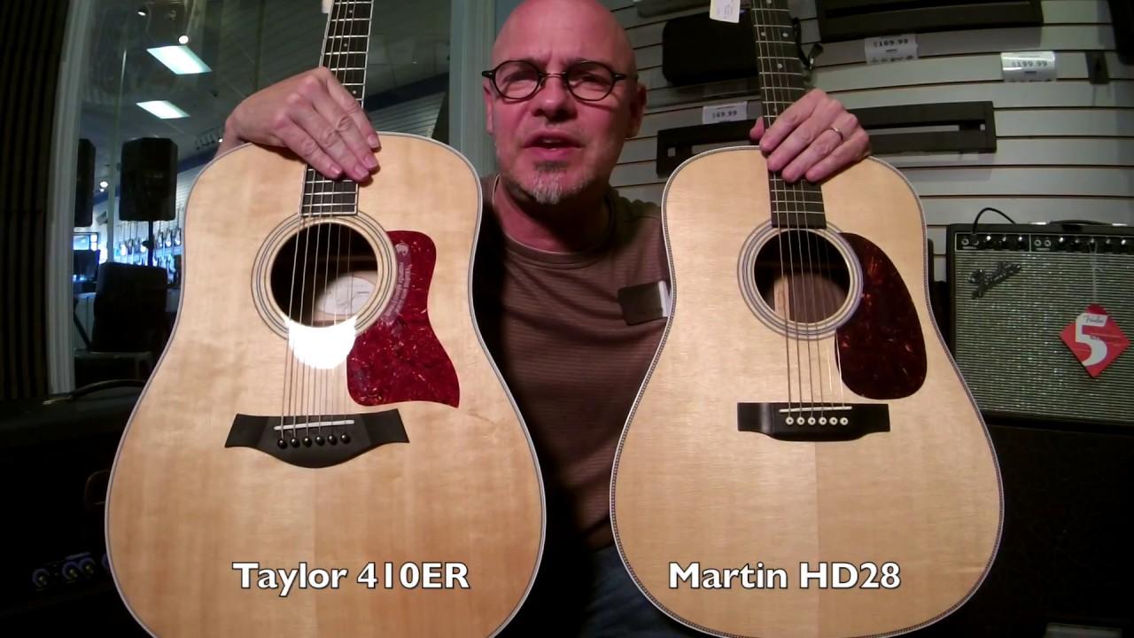 FAZIO'S FRETS MUSIC - TAYLOR 410ER vs  MARTIN HD28