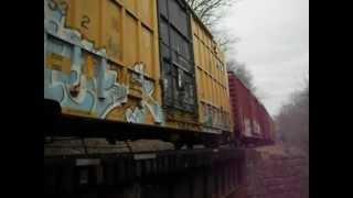 Pan Am Railway rolling through Auburn, Maine