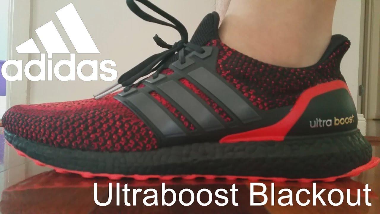 Adidas Ultra Boost Solar Red On Feet