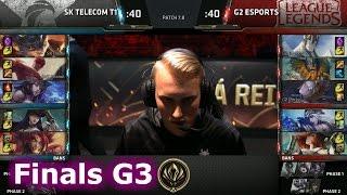 SK Telecom T1 vs G2 eSports | Game 3 Grand Finals LoL MSI 2017 Play-Offs | SKT vs G2 Final G3