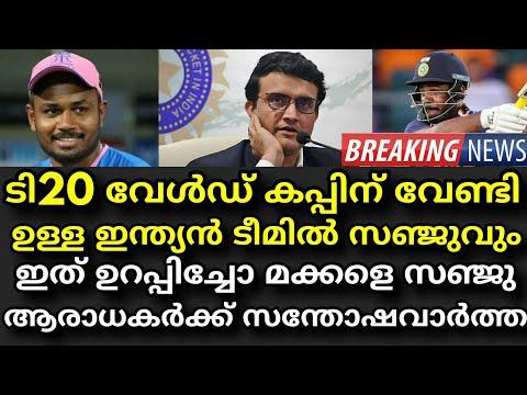 ടി20 വേൾഡ് കപ്പിലെ ഇന്ത്യൻ ടീമിൽ സഞ്ജുവും | T20 World Cup Indian Team | Sanju Samson !!