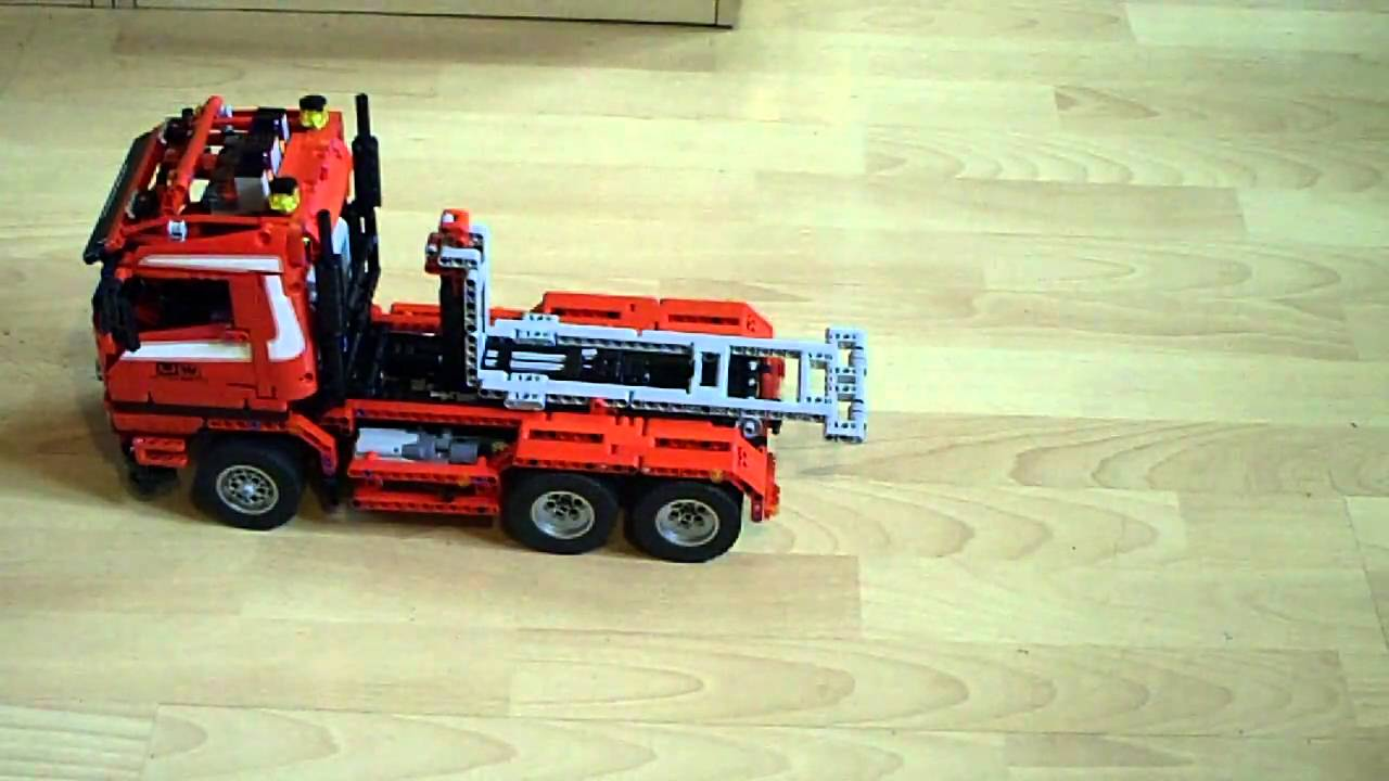 lego technik container truck 8052 modifiziert youtube. Black Bedroom Furniture Sets. Home Design Ideas