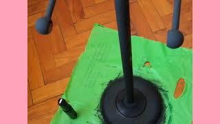 Como pintar objetos oxidados con las Pintura de tiza
