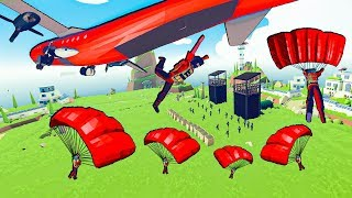 TABS - Incredible PARADROP To Take Over the Military Base in Totally Accurate Battle Simulator!