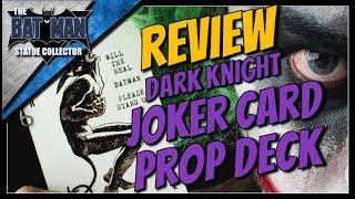 The Dark Knight Heath Ledger Joker Cards Movie Prop Deck Review!