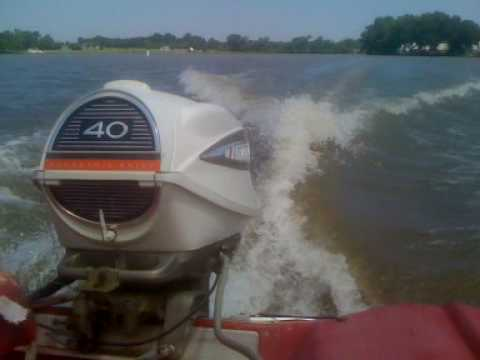 How To Check Spark Plugs >> 1966 Evinrude Lark 8 40hp Electric Shift - Idle to full Throttle - YouTube