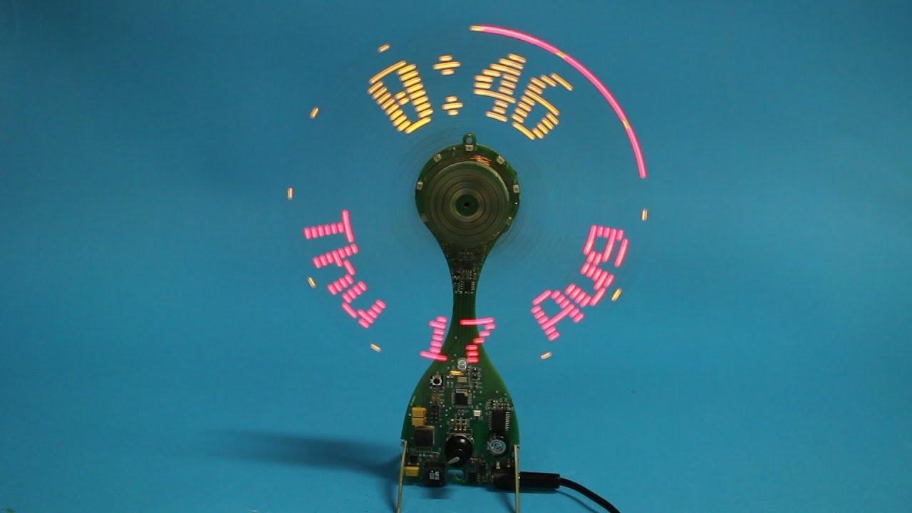 Propeller Clock Kit : Elektor propeller clock finished sort of youtube
