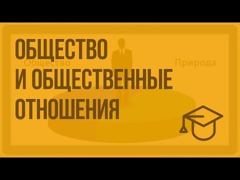 Общество и общественные отношения. Видеоурок по обществознанию 10 класс