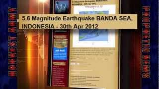 EARTHQUAKE SWARM! 5.6 Struck NORTH INDIAN OCEAN... Banda Sea, Indonesia; May 1, 2012. Prediction