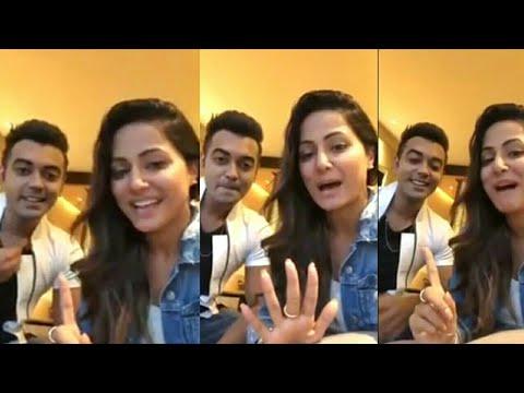 Bigg Boss 11 Hina khan Live With Luv Tyagi Talking About Priyank, Shilpa shinde Hina khan And luv