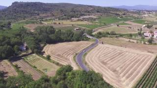 Flight over Languedoc-Roussillon (Vineyards, Orchards, Hills, Wine) DJI Phantom 3 Drone