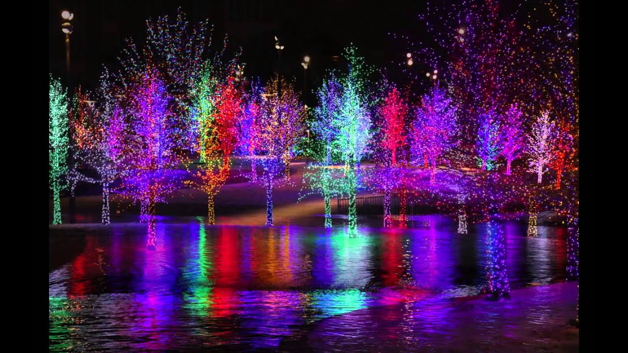 Magical Vitruvian Lights of Addison, Texas - YouTube