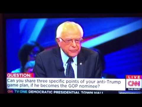 Bernie Sanders Mistated Trumps View On Wages #DemTownHall
