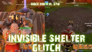 INVISIBLE SHELTER GLITCH FORTNITE SAVE THE WORLD