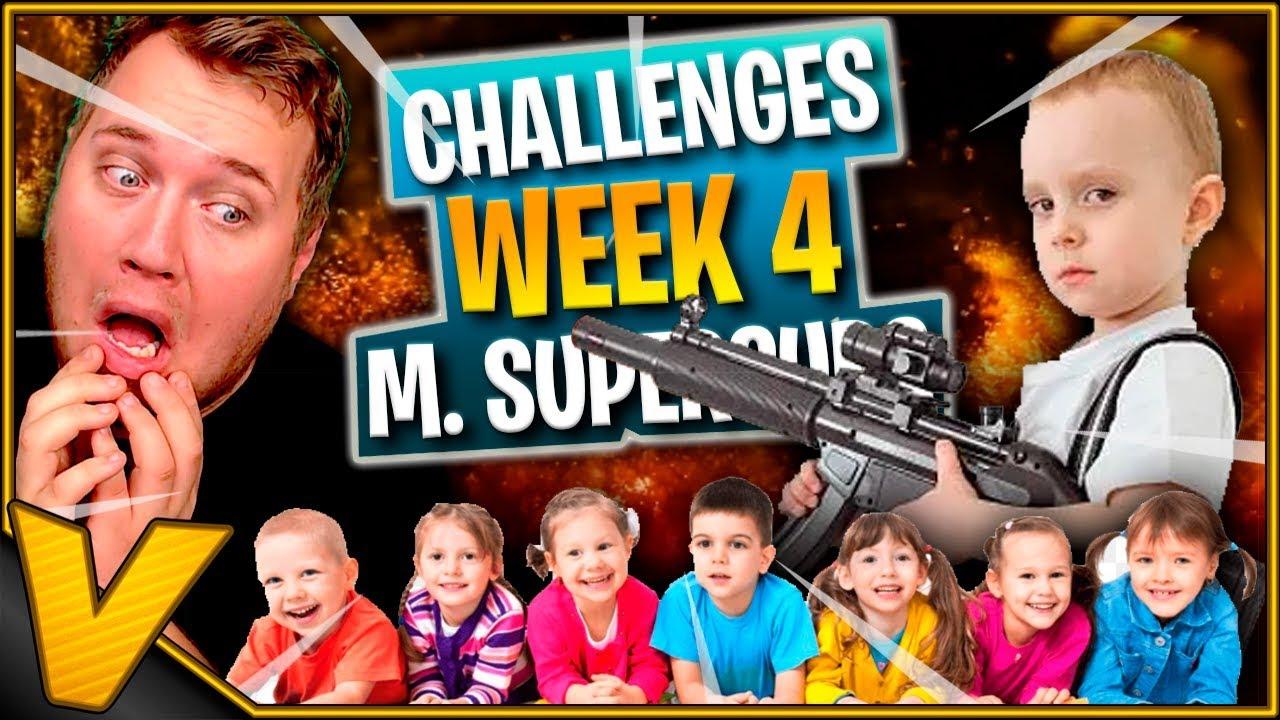 CHALLENGES M. HJÆLP FRA SUPERSUBS *WEEK 4* :: Fortnite Dansk