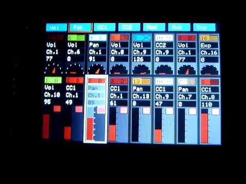 Arduino Midi Sequencer AM808 VX3 - New Mixer Engine