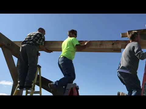 A Bunch of New Guys to Timber Framing, They Did a Great Job