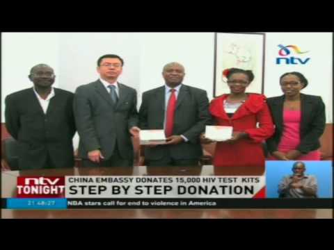 China embassy donates 15,000 HIV test kits to the Step by Step campaign