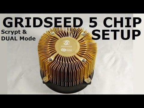 Gridseed 5 Chip Asic Miner - Scrypt \u0026 Dual Mode Setup