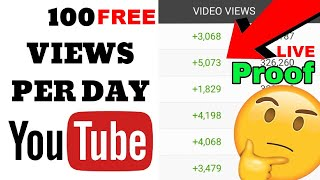How To Get 100 Views PER DAY On YouTube ! In 2020 (With Proof)