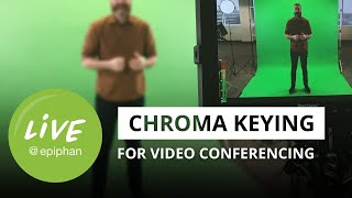 Chroma keying for video conferencing, live video, and more