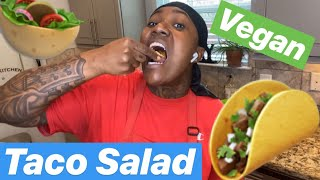 How To Make VEGAN Taco Salad