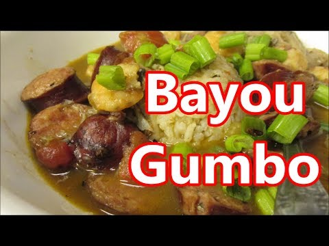 Creole Style Filé Gumbo Recipe with Seafood and smoked sausage