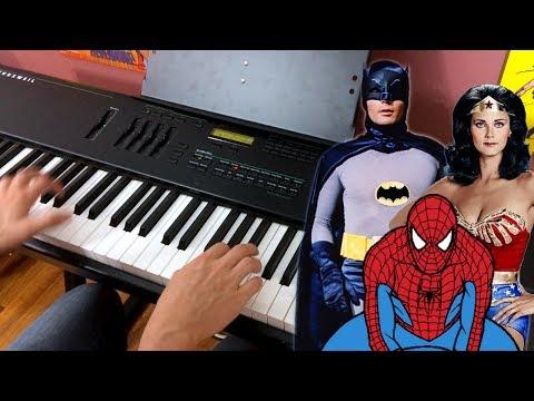 Superhero Rag - Piano Medley Spider-Man Wonder Woman Batman